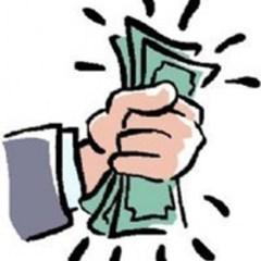 Sm square fist of money 500